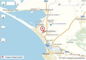 """Гостиница в Анапе """"Анапа24"""" - карта; адрес"""
